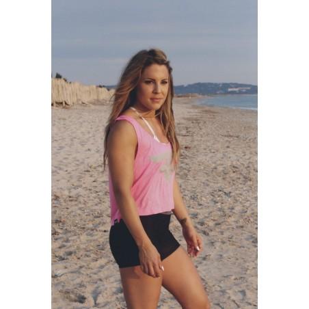 Neon Pink Crop - Fran Cindy