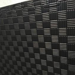 Tatami puzzle noir/gris 40mm - le m²