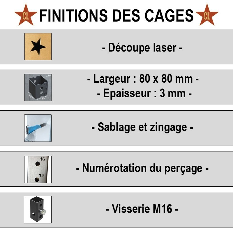 Cage Tank Fight Murale - 3 Postes