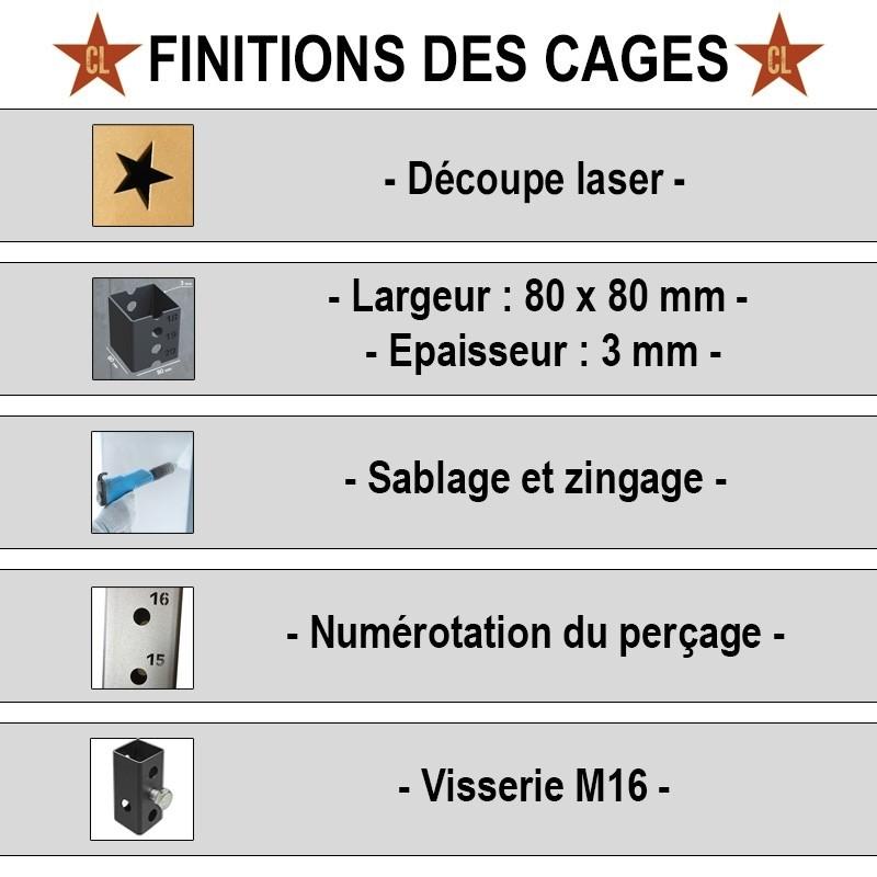 Cage Murale Tank - 1 poste